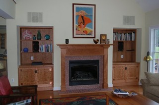 Myrtle Grove mantel before