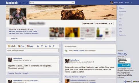 Nuevas opciones del muro de Facebook