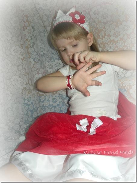 юбка красная принцесса 107
