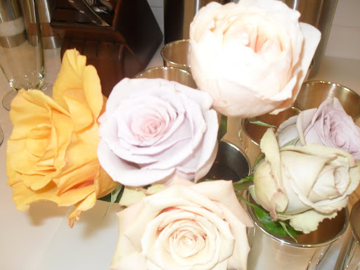 A close up of a few of the gorgeous roses.