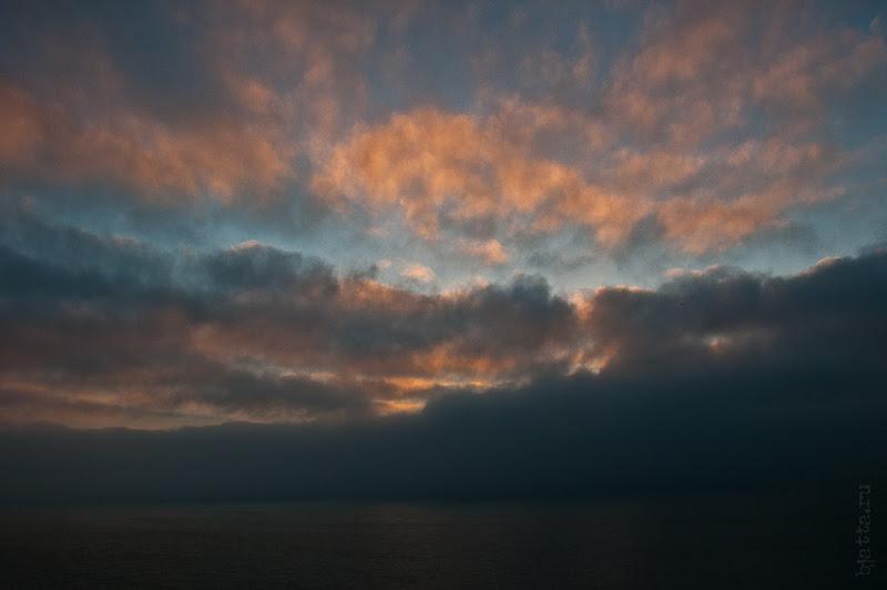 Третий день. Casablanca. Morocco. Круиз. Costa Concordia. А вот и рассвет.