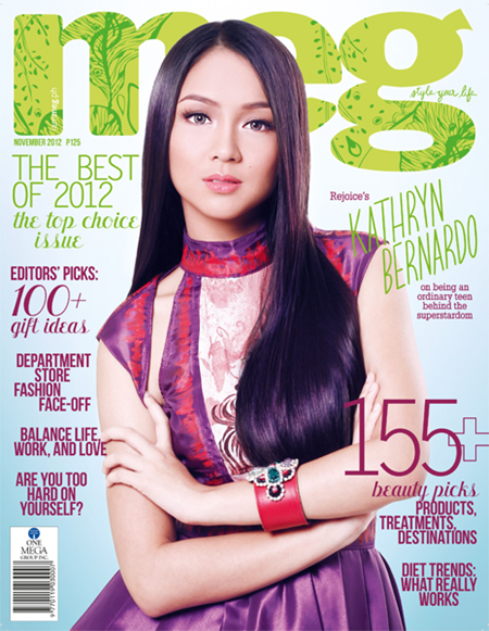 Kathryn Bernardo covers Meg Nov 2012