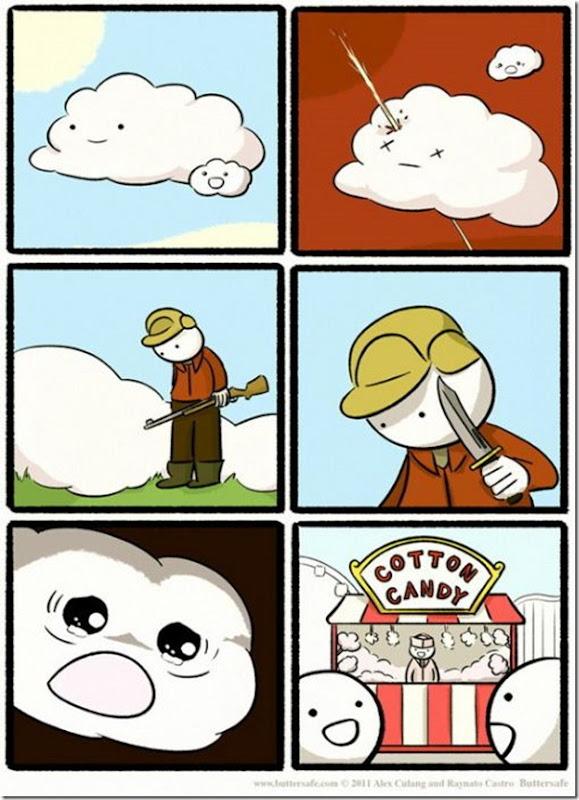 Como são feitos os algodões doces