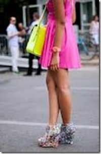 hot pink and yellow