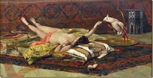 Fabio Cipolla , femme au perroquet
