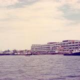 Kemena川から見たBiutulu市街 / The cityscape of Bintulu from the Kemena River