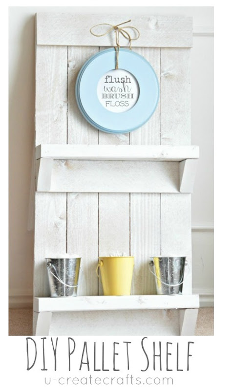 DIY Pallet Shelf & Free Printable by UCreate