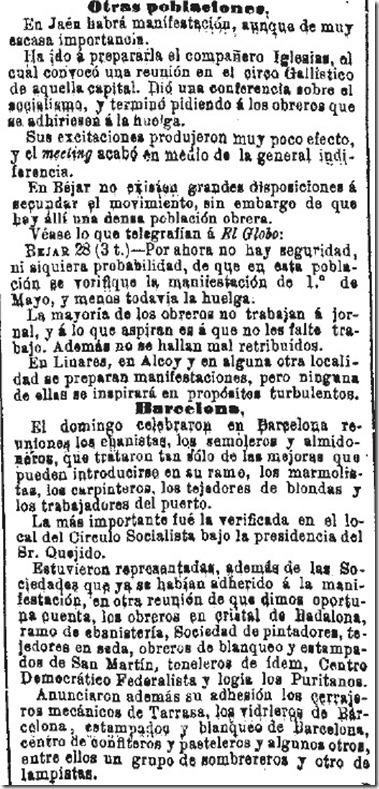 1890-04-30 - La Iberia - 01 (Preparativos del 1º de Mayo - Otras poblaciones y Barcelona - 1)