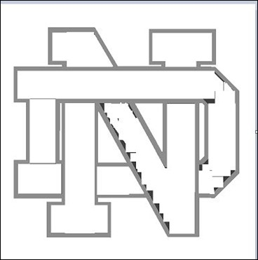 University of notre dame school logo free coloring pages for Notre dame fighting irish coloring pages