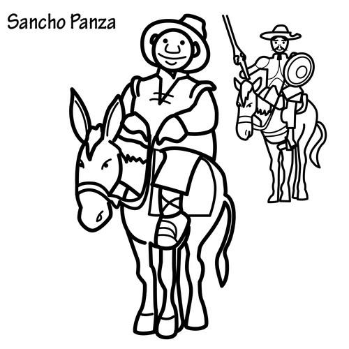 DIBUJO DE SANCHO PANZA PARA COLOREAR - photo#1