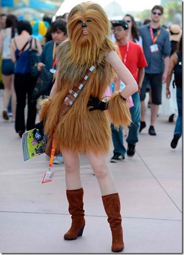 Disfraz casero de chewbacca-sexy