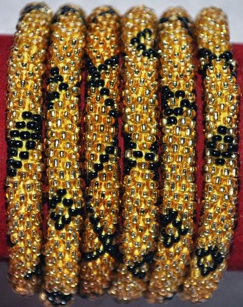 Gold Black Bracelets