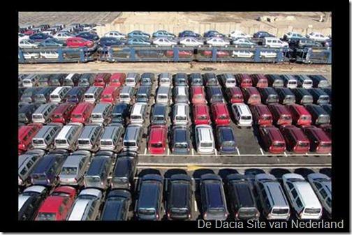 Dacias wachten op transport 01