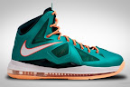 nike lebron 10 gr miami dolphins 5 01 Gallery: Nike LeBron X Miami Setting or Dolphins if you Like