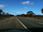 Jul 4 - The long straight road across the Nullabor Plain from Norseman to  Adelaide