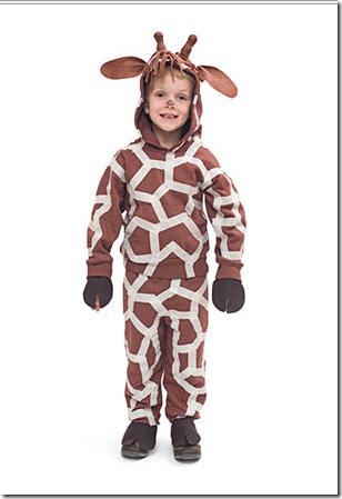 disfraz casero de jirafa