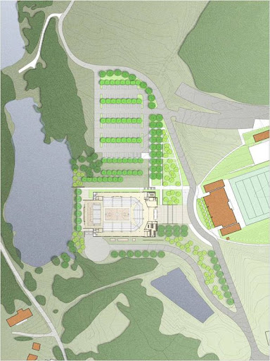 University of Virginia at Wise Convocation Center Site Plan Rendering (to be completed in the Fall of 2011)