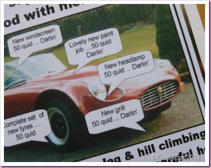 E Type jag Birthday Card.