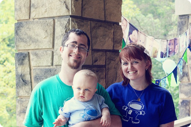 Family photo.  Note the matching tshirts that I made. <3