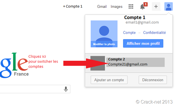 se connecter à plusieurs compte gmail en même temps