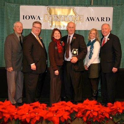 Accepting for Premier 1 Supplies are co-founders Jean and Stan Protratz (center)(photo submitted).