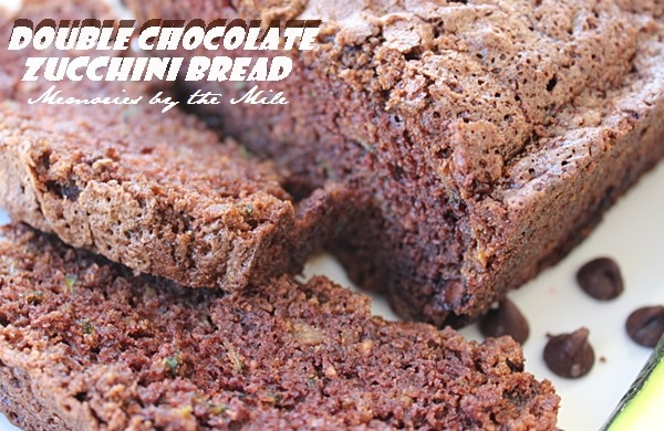 Double Chocolate Zucchini Bread | Memories by the Mile