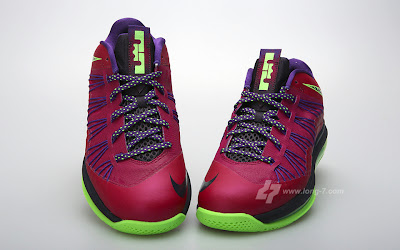 nike lebron 10 low gr purple neon green 3 05 Nike Air Max LeBron X Low Raspberry Official Release Date