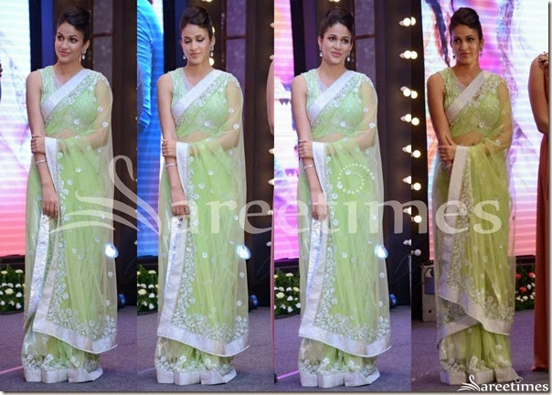 Lavanya_Tripati_Green_Net_Saree(1)