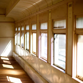 Sun Beams by Cynthia Karlow - Transportation Trains