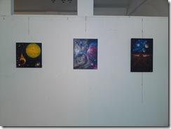 Peisaje stelare la expozitia Univers Eminescian de la galeria AAP din Herastrau