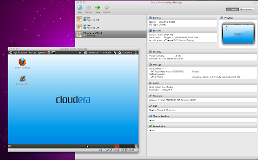 CDH Mac OS X VirtualBox VM