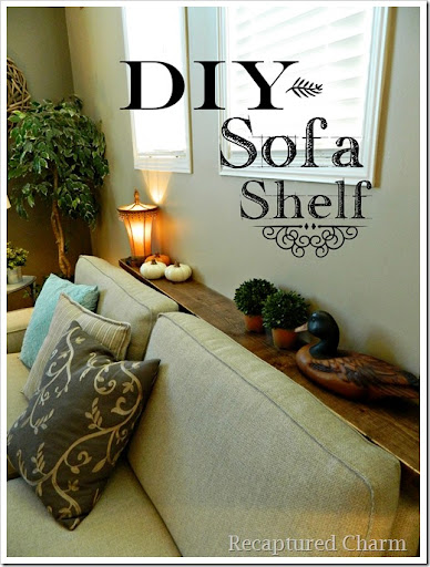 Fabulous A simple shelf was created to remedy this problem since it made no sense to spend money for a sofa table you wouldn ut see anyway