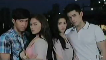 Enchong Dee, Maja Salvador, Kim Chiu and Xian Lim in Ina, Kapatid, Anak