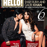 SRK & Gauri Khan On The Cover Of Hello