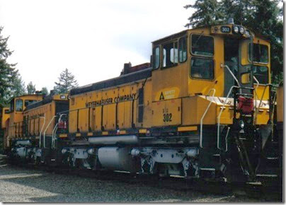 Weyerhaeuser Woods Railroad (WTCX) SW1500 #302 at Headquarters, Washington on May 17, 2005