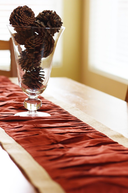 ruffled burlap table runner tutorial