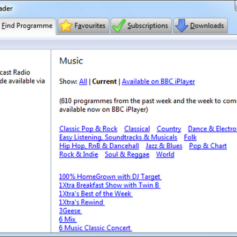 Subscribe and Download BBC Radio Programs Automatically