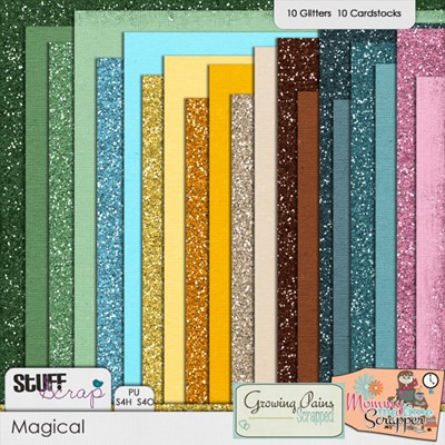Magical Cardstocks - Glitter