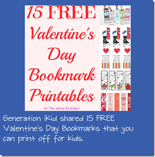 FRee Printable Valentine's Day Bookmarks for Kids