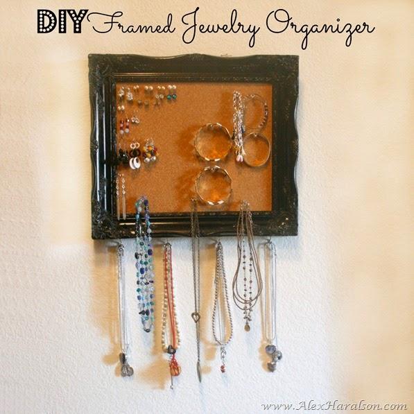 DIY Framed Jewlery Organizer