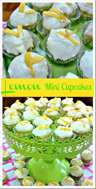 lemon mini cupcakes