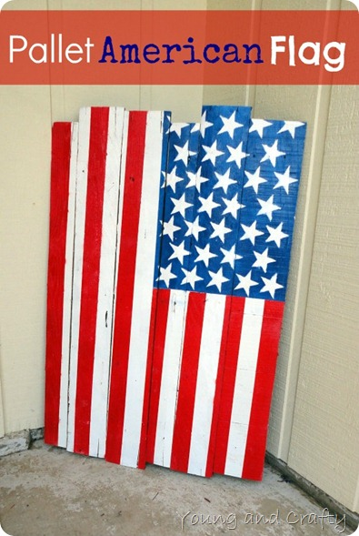 Pallet American Flag