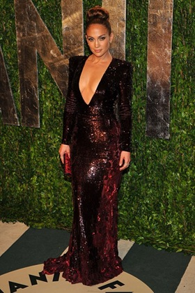 Jennifer Lopez at Vanity Fair Oscar Party 2012