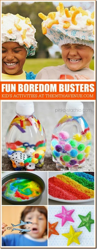 Boredom Buster Kids Activities so you'll never hear the dreaded I'm bored! This is a great list for moms as we make our New Year's Resolutions to play with our kids more!