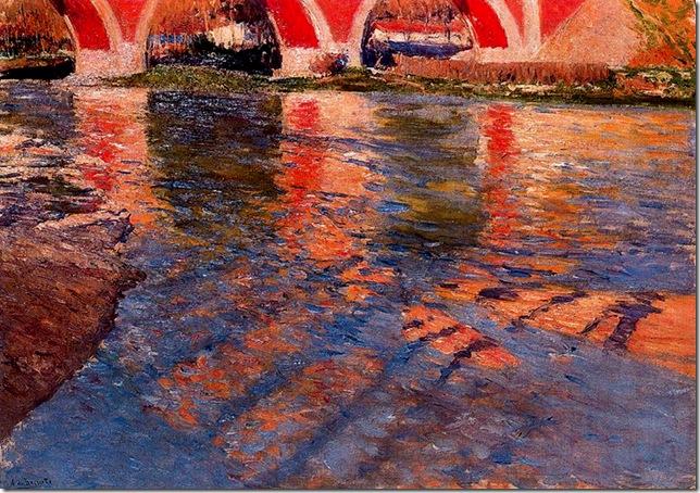 Aureliano de Beruete y Moret - El Manzanares bajo el puente de los Franceses