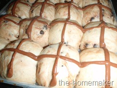 Chocolate Hot Cross Bun - b4 baking