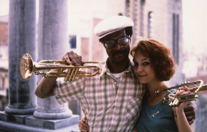 Madrid,1988 with fiance Woody Shaw, Photo by Jean Morant,Paris.jpg