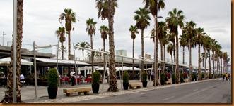 Malaga, waterfront cafes