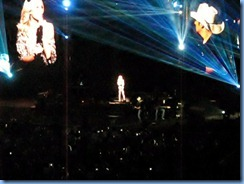 0742a Alberta Calgary Stampede 100th Anniversary - Scotiabank Saddledome - Brad Paisley Virtual Reality Tour Concert -Remind Me - Brad and a hologram of Carrie Underwood