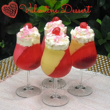 Valentine Dessert via Creative and Delicious